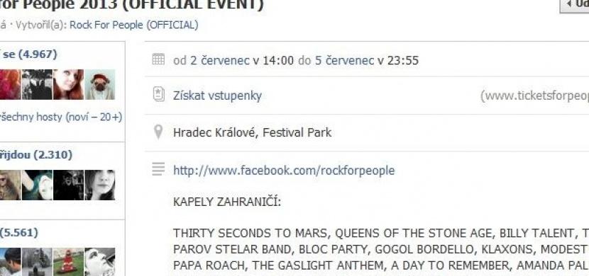 Použil jsi někdy pozvání přátel na Facebooku? Tak to zkus na Rock for People a užij si pořádnou jízdu!
