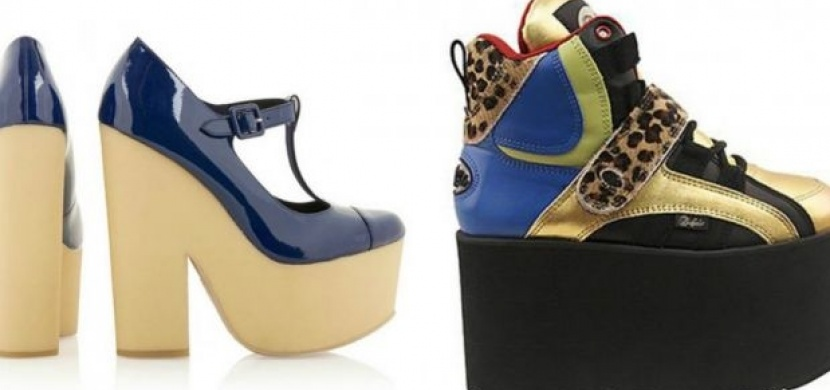 Šílené boty na platformě