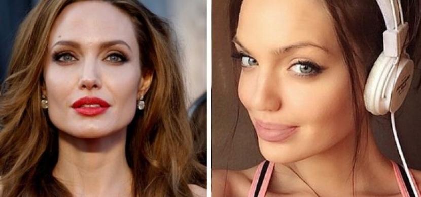 Tahle dívka je dokonalou dvojnicí Angeliny Jolie