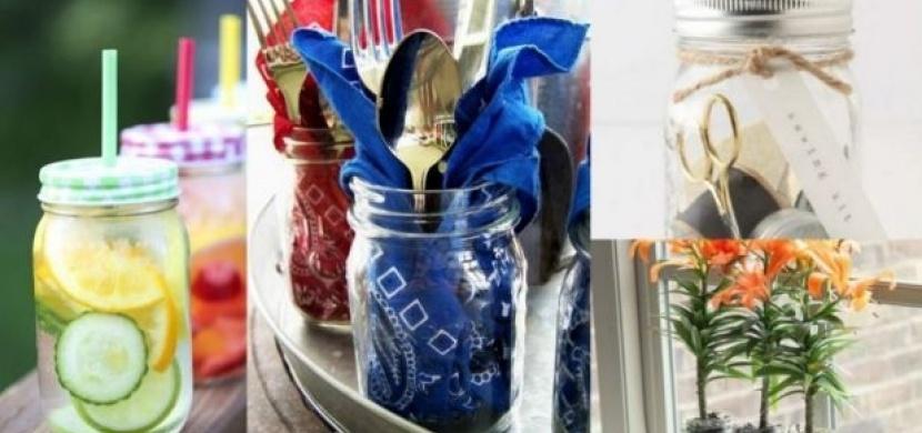 Netradiční a originální využití zavařovacích sklenic