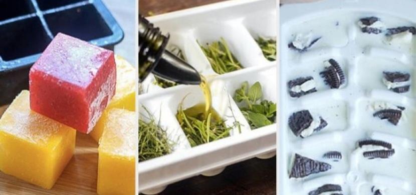 Připravte si netradiční kostky ledu. S bylinkami, ovocem nebo třeba s česnekem