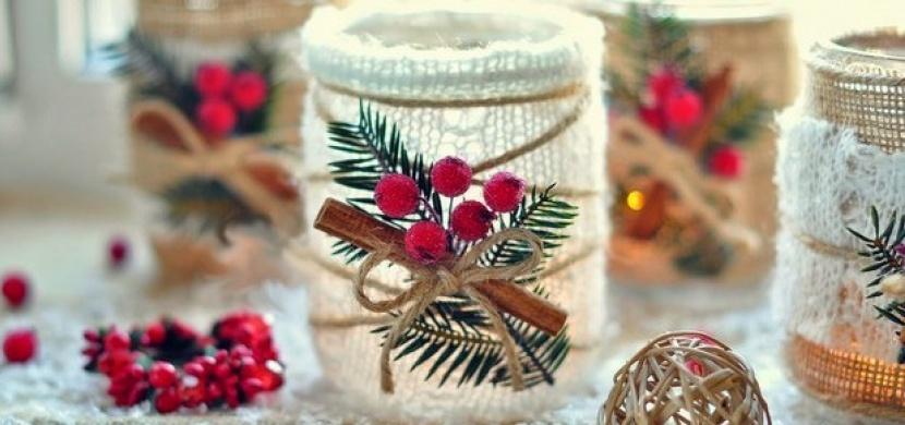 Z obyčejné zavařovačky krásné vánoční dekorace, ještě máte čas!