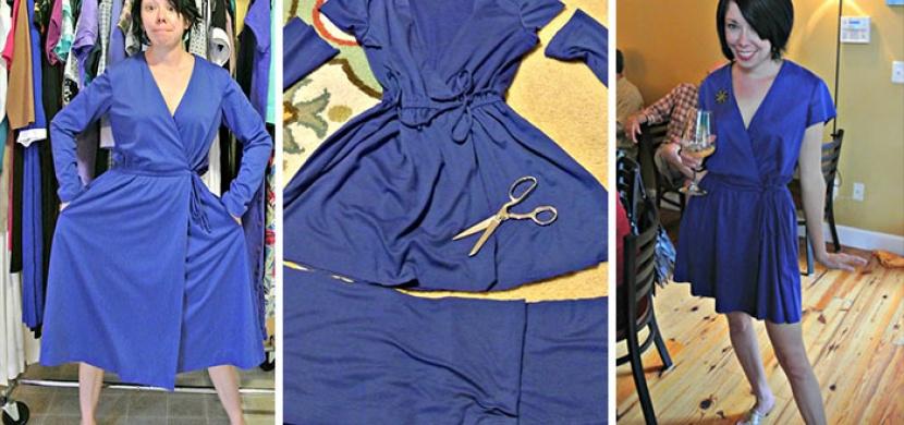 Second hand oblečení přetváří Jillian Owens na elegantní šaty