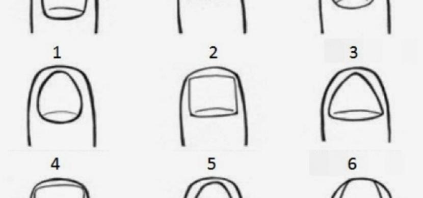 Chcete vědět, co o vás prozradí tvar vašich nehtů?