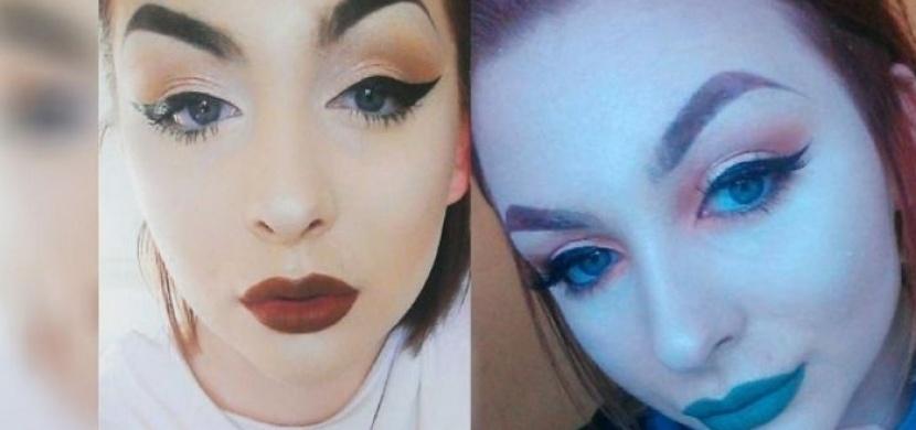 Přítel ji poprvé uviděl bez make-upu a ihned se s ní rozešel. Sledujte, jak dívka ve skutečnosti vypadá!