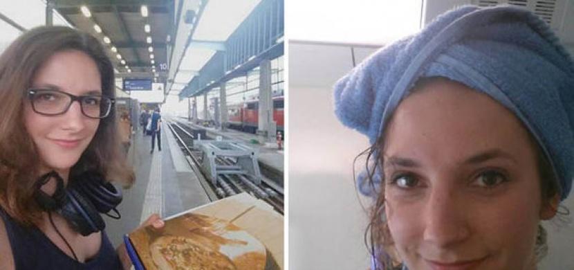Místo zaplacení nájmu si koupila speciální jízdenku do vlaku. Podívejte se na to, jaké je to žít neustále na cestách!