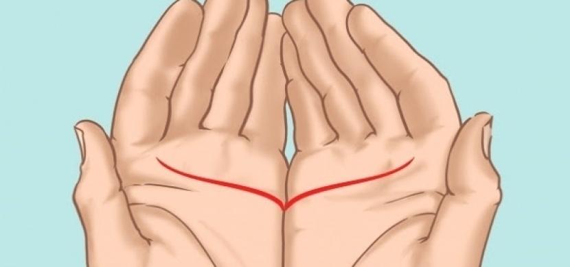 Spojte dlaně k sobě a sledujte, jakou čáru tím vytvoříte. Budete koukat, co to o vás všechno vypoví!