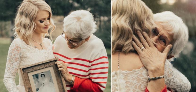 Nevěsta si nechala přešít babiččiny svatební šaty z roku 1962. Reakce její babičky vás dojme!