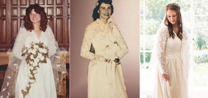 Žena se ve svatební den oblékla do šatů, ve kterých se vdávala její maminka i babička
