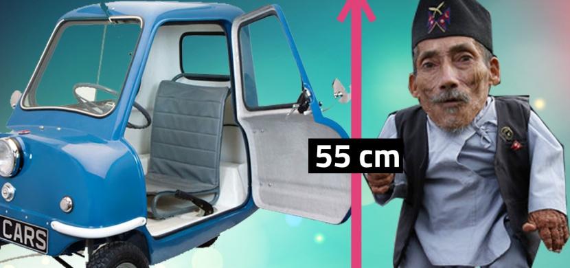Nejmenší člověk nebo auto? Podívejte se na nejmenší věci světa