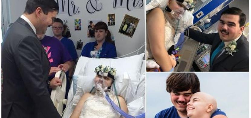 Mladá žena si splnila své poslední přání: Vdala se na smrtelné posteli