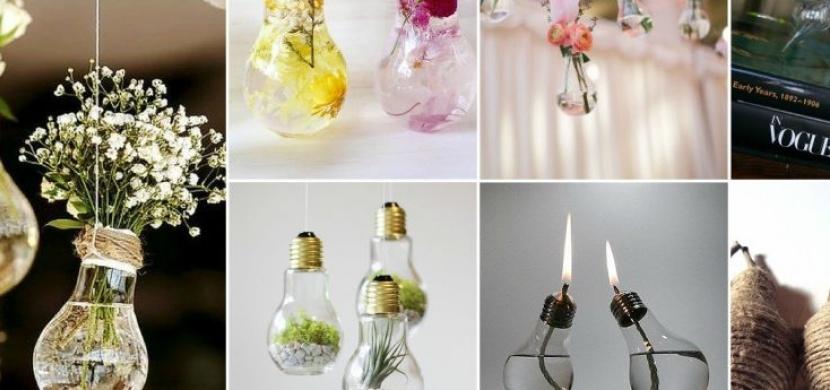 Co se starými žárovkami? Vytvořte z nich stylové dekorace i vánoční ozdoby