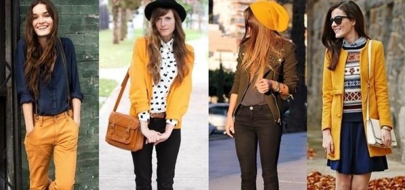 Hořčicová barva oblečení: Jak tento trendy odstín žluté nosit a s jakými barvami jej kombinovat