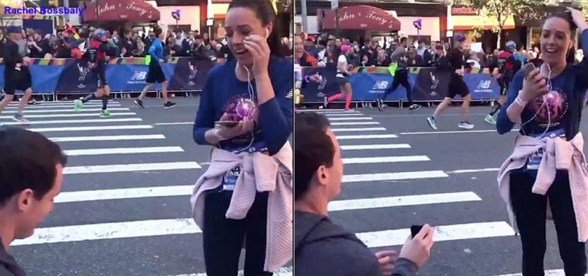 Běžela svůj první maraton: Její přítel ji v průběhu závodu požádal o roku