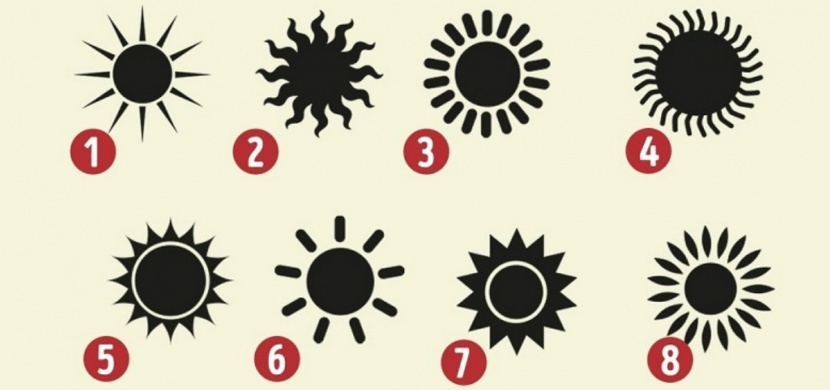 Vyberte si slunce, které vám jako první padne do oka. Co o vás tento psychologický test vypovídá?
