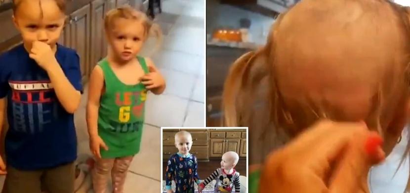Horor pro každou mámu: Děti si nepozorovaně oholily vlasy elektrickým strojkem