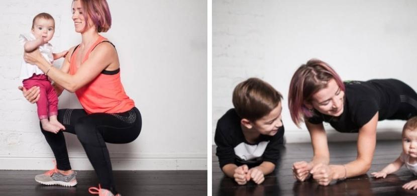 Dostaňte se po porodu zpátky do formy: Zacvičte si se svými dětmi jako tato maminka