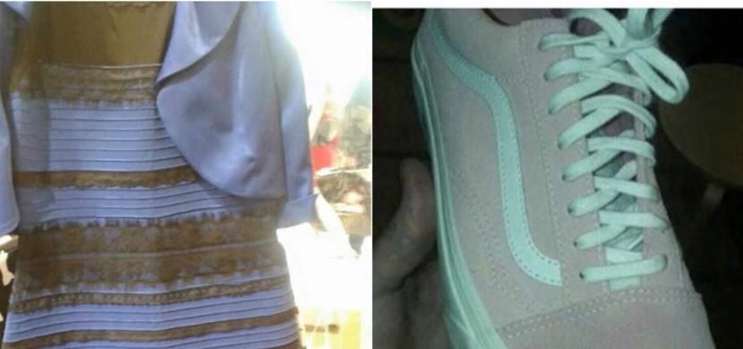 O barvě těchto šatů a tenisek se hádají miliony lidí: Proč vidíme odlišné barvy?