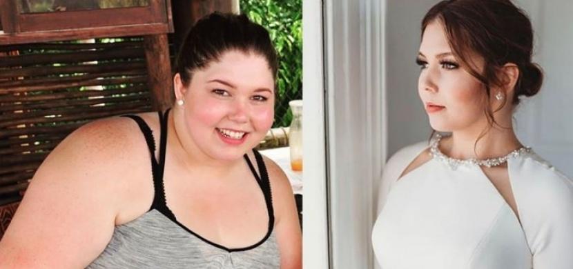 Dívka se zařekla, že nebude tlustou nevěstou: Zhubla 61 kilo a oblékla se do vysněných šatů