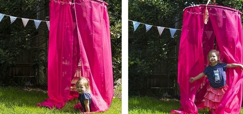 Stanování pod hula hoop: Geniální nápad, který ocení hlavně děti