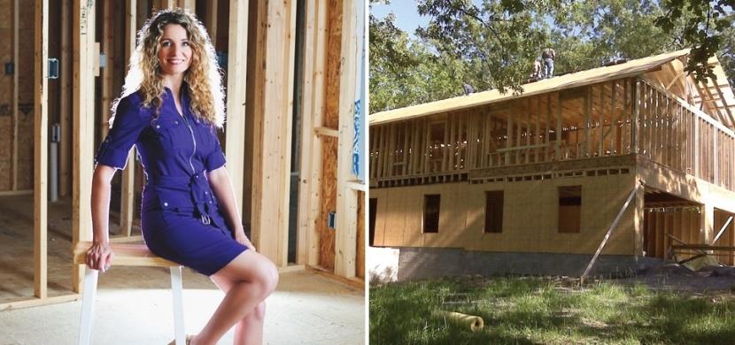 Žena si postavila dům snů podle návodu na YouTube: Pro její rodinu to byl nový začátek