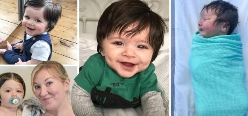 Chlapeček se narodil s dlouhými a hustými vlásky: Své první stříhání absolvoval už ve svých 12 týdnech