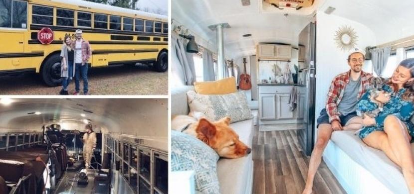 Mladý pár cestuje po světě ve zrekonstruovaném školním autobusu: V jejich luxusním karavanu byste chtěli žít také