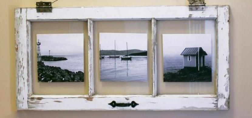 Ze starých dřevěných oken vykouzlíte originální bytovou dekoraci: Je libo konferenční stolek, nástěnné zrcadlo nebo předsíňovou stěnu?