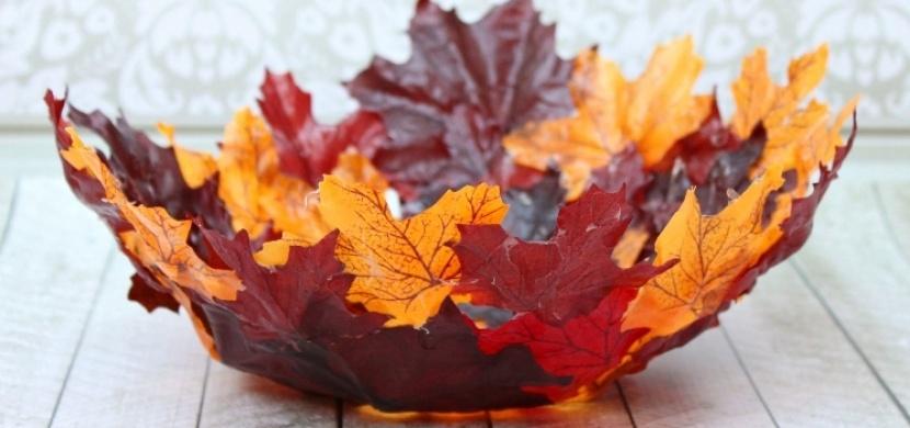 Miska z podzimního listí: Vyrobte si dekoraci, která zkrášlí váš domov