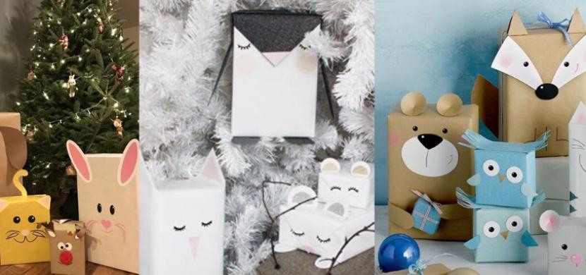 Originální nápad na balení vánočních dárků: Vyzkoušejte zvířecí motivy ve skandinávském stylu