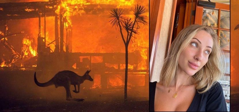 Influencerka Kaylen Ward bojuje proti požárům v Austrálii svou nahotou. Vybrala už více než 700 tisíc dolarů