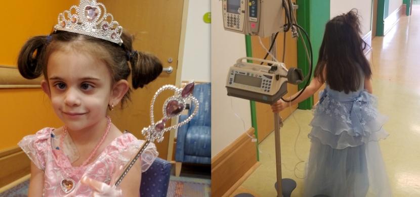 Holčička Lilli Durante si na každou chemoterapii bere jiné princeznovské šaty: Její pozitivní přístup napomáhá léčbě
