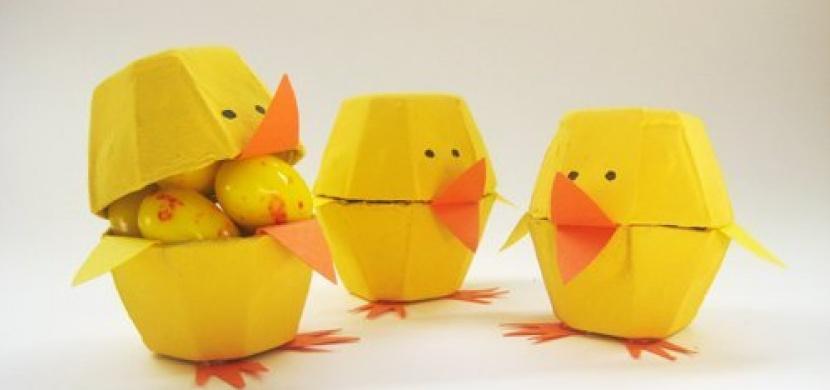 Velikonoční tvoření s dětmi: Vytvořte si roztomilá kuřátka z kartonu od vajec