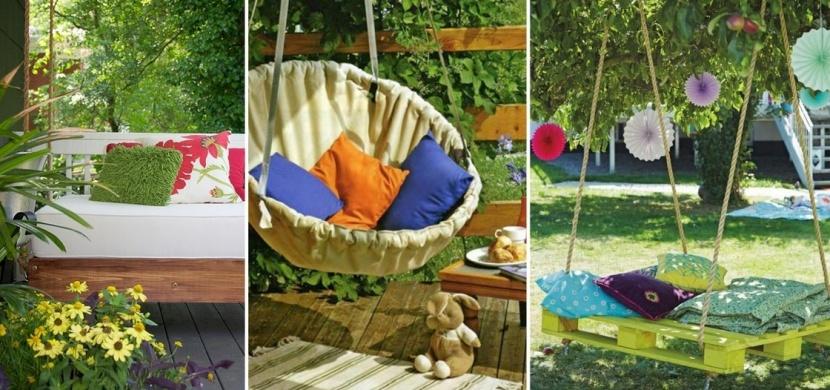 Vyrobte si zahradní houpačku svépomocí: Z palet, pneumatiky i starého křesla