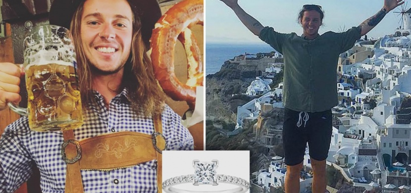 Australan Brendan Beasley se s rozchodem vypořádal po svém. V Řecku hodil do moře zásnubní prsten za 160 tisíc korun