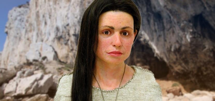 Tato krásná žena žila před 7500 lety na Gibraltaru. Vědci provedli 3D rekonstrukci jejího obličeje