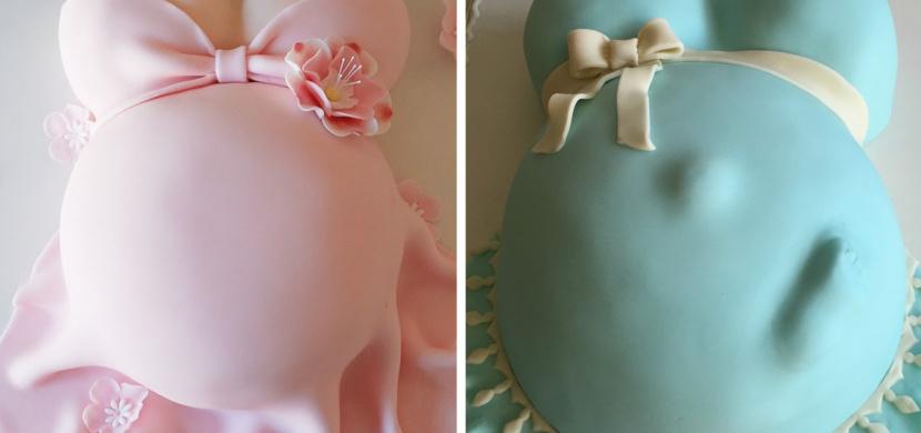 Těhotenský dort pro budoucí maminku: Přinášíme ochutnávku originálních moučníků ve tvaru těhotenského bříška