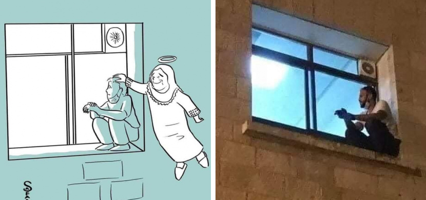 Zákaz návštěv v nemocnici jej neodradil. Mladý muž každý den hlídal za oknem svou mámu bojující s koronavirem, na který bohužel zemřela