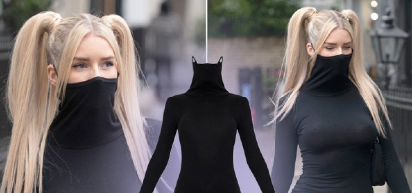 Koronavirus ovlivňuje i módu: Designéři navrhli šaty se zabudovanou roušku, model se ihned vyprodal