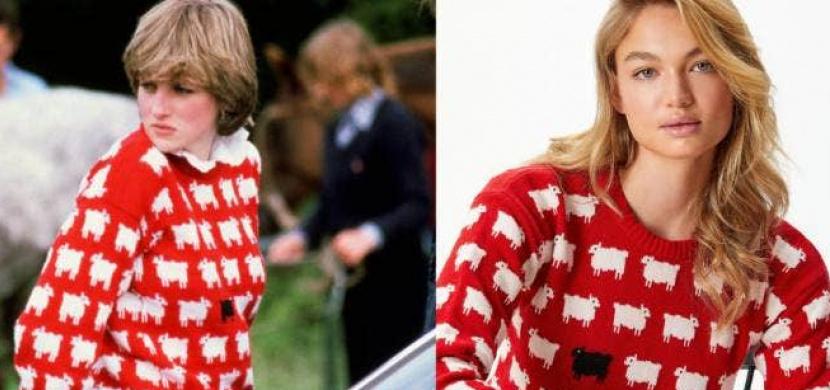 Ikonický svetr Diany se vrací do obchodů. Princezna model s bílými ovcemi a jednou černou nosila v 80. letech