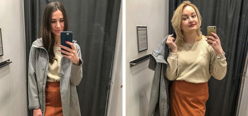 Stejné oblečení může slušet ženám různých velikostí. Kamarádky s velikostmi 34 a 40 ukazují, že tajemství je ve stylingu
