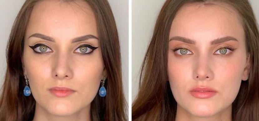 Když se ženy líčí samy vs. když jim dělá make-up profesionálka. Ruská vizážistka Julia Ismailova ukázala rozdíl