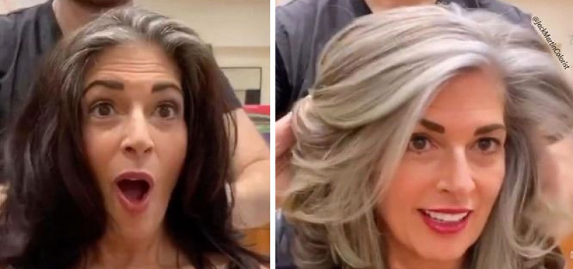 Americký kadeřník dokazuje, že šedivé vlasy mají šmrnc. Mění ženy k nepoznání a vyzdvihuje jejich přirozenost